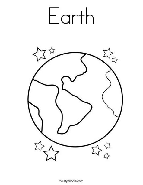 color of earth earth coloring page twistynoodle com 2nd 3rd grade science social studies pinterest
