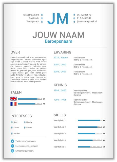 layout van cv 46 best cv templates van mooicv 1pg images on pinterest