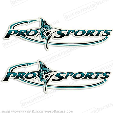 thompson boat decals pro sports logo decal teal black
