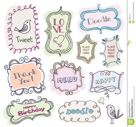 doodle text doodles frames stock images image 18505174