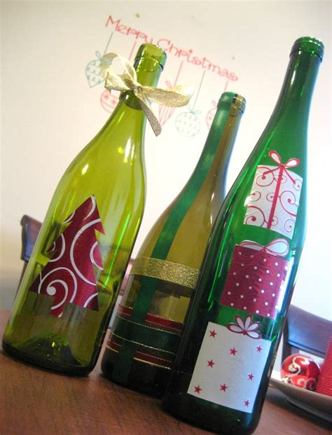 decorate wine bottle for christmas wine bottle decor craft mod podge rocks