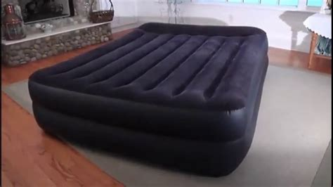 intex pillow rest raised airbed with built in pillow and electric review