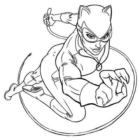 cat women new costume coloring pages cat women new