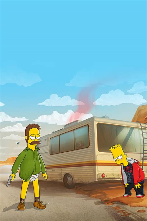 Breaking Ned freeios7 breaking bad simpsons parallax hd iphone