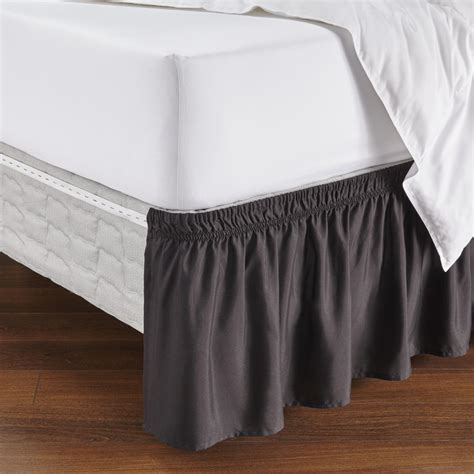 essential home adjustable bed skirt