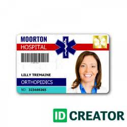 hospital id card template hospital personnel id card order in bulk from idcreator