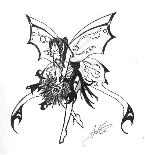 imgs for gt easy dark fairy drawing
