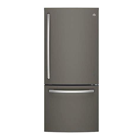 ge slate refrigerator ge 30 in w 20 9 cu ft bottom freezer refrigerator in