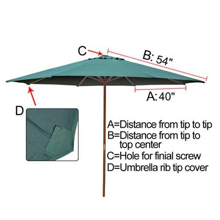 Patio Umbrella Replacement Canopy Lowes Best Buy Green 9ft Outdoor Patio Umbrella Replacement Top