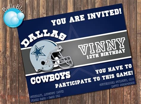 Dallas Cowboys Baby Shower Invitations by Dallas Cowboys Baby Shower Invitations Theruntime