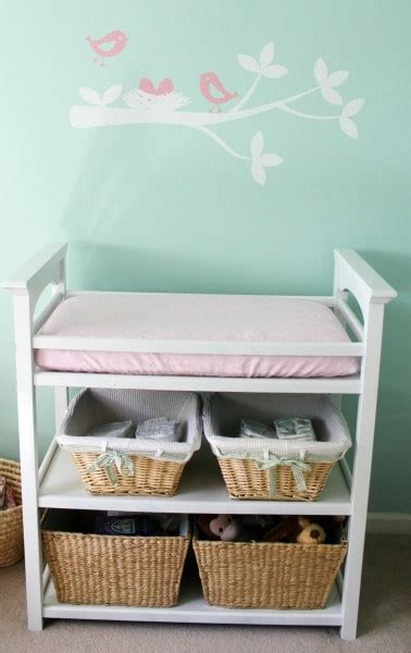 Changing Table With Storage Changing Table Basket Storage Nursery Ideas