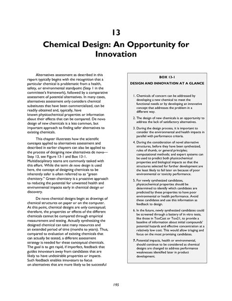 framework design guidelines book 13 chemical design an opportunity for innovation a