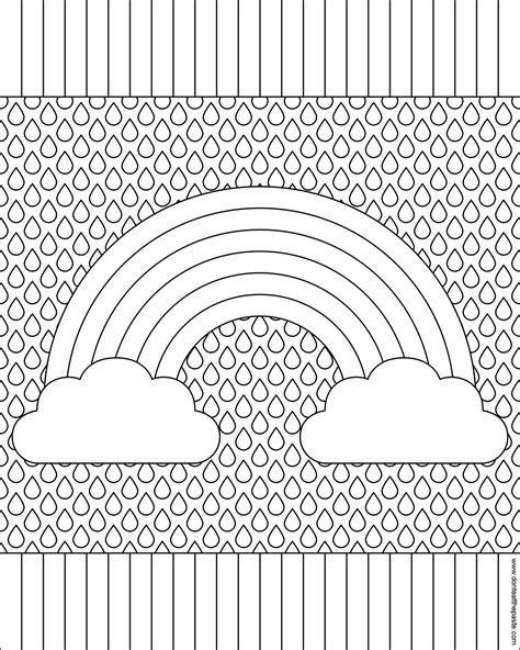 Pattern Coloring Pages Rainbow Page sketch template
