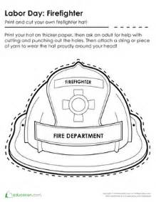 firefighter hat coloring education