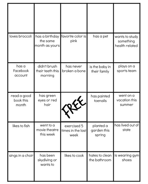 Family Reunion Get To Know You Bingo Family Card Template 2