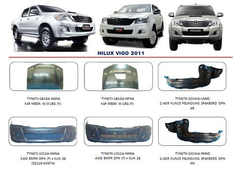 Pelindung Bemper Belakang Ertiga Bemper Hilux Vigo 2011 Auto Part Mobil