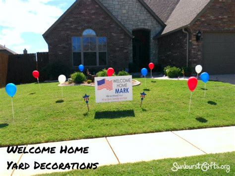 welcome home decorations welcome home yard decorations thoughtful gifts