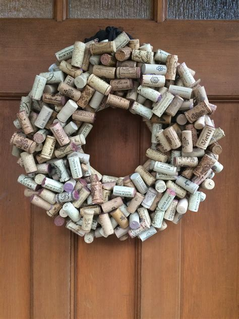 wine cork wreath the traveling homemaker
