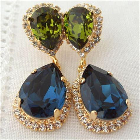 navy blue chandelier earrings best navy blue chandelier earrings products on wanelo