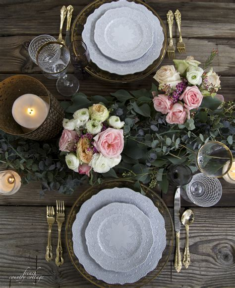 romantic table setting  valentines day balsam hill