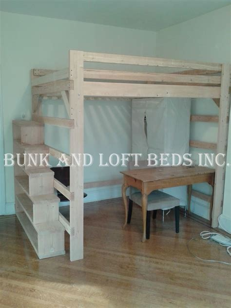 queen loft bed with stairs queen size extra tall loft bed with custom made stair case