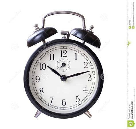 black retro alarm clock stock image image  black number