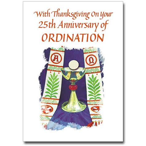 free printable ordination anniversary cards with thanksgiving on your 25th 25th ordination