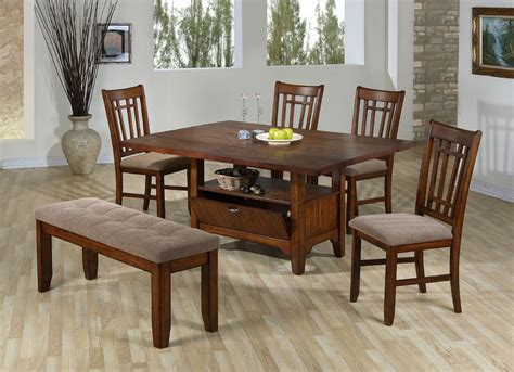 Mission Style Dining Room Sets by Drop Leaf Dining Set Classic Mission Style Dining Room Furniture Collection With Storage 5044