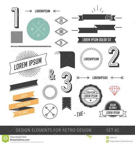 hipster design elements vector hipster style infographics elements set for retro design