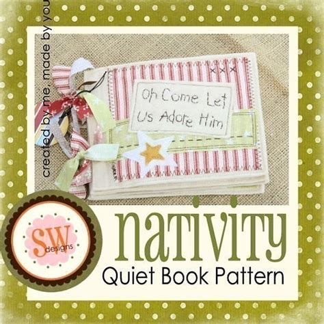 pattern for my quiet book pattern for nativity quiet book pdf