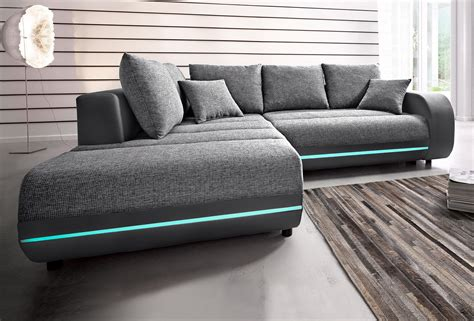 polsterecke inklusive rgb led beleuchtung wohnzimmer