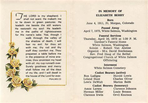 elizabeth hesse memorial card