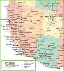 show me a map of arizona map of arizona california nevada and utah