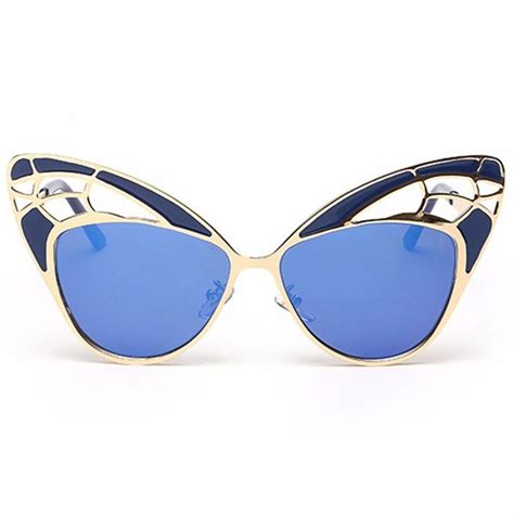 Stylist Anti Glare Glasses Kacamata Gold pc resin lens butterfly style sunglasses metal frame anti reflective eyeglasses at