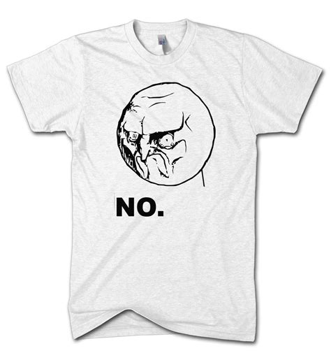 Tshirt Memes - no meme t shirt yes funny game kids cartoon face angry