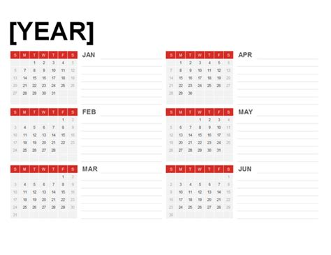 6 month calendar templates new calendar template site