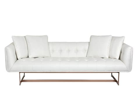 Matisse Sofa by Matisse Sofa Gold White Leather W 4 Pillows