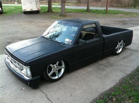slammed s10 flat black bagged s10 slammed trucks pinterest flats