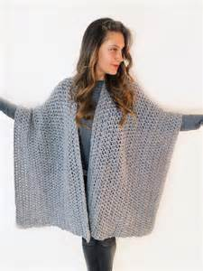 Draped Cardigans Blanket Ruana Poncho