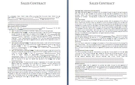 sales contract template free contract templates