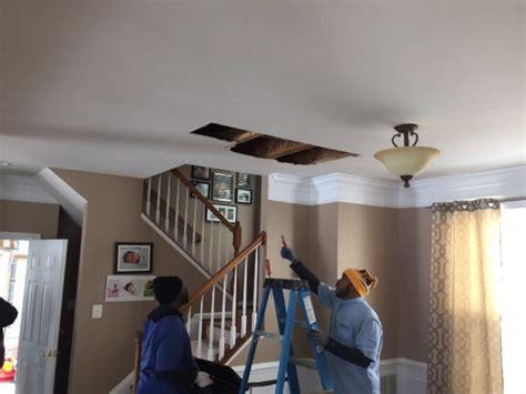 bathroom leaks through ceiling insurance tips on how to repair ceiling water damage clean water