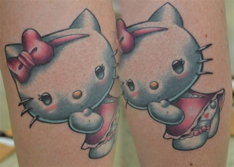hello kitty couple tattoos images designs