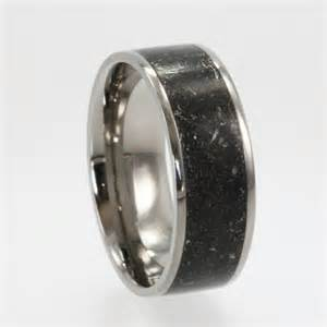 meteorite mens wedding band meteorite ring dust titanium ring alternative wedding band meteorite wedding band
