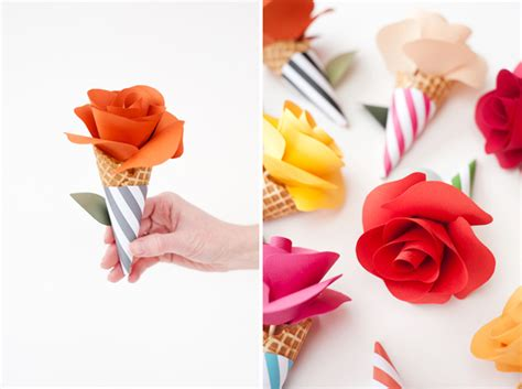 How To Make Paper Cones For Flowers - diy paper flower cone bouquets