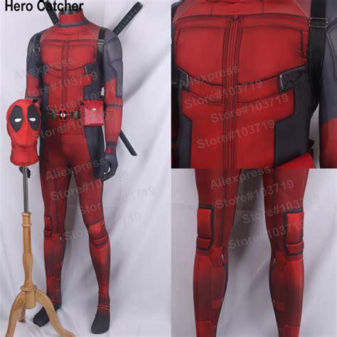 Kaos Print Umakuka Dedpool Suits catcher newest deadpool spandex costume with comic deadpool suit 3d print