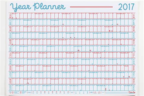 yearly planning calendar template year planner 2017