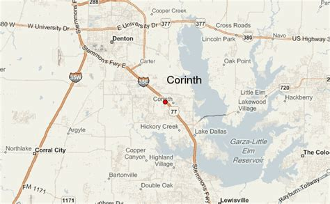 corinth texas map corinth location guide
