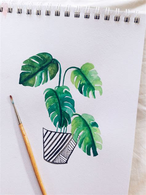 watercolor leaves tutorial how to paint watercolor monstera leaves a great tutorial