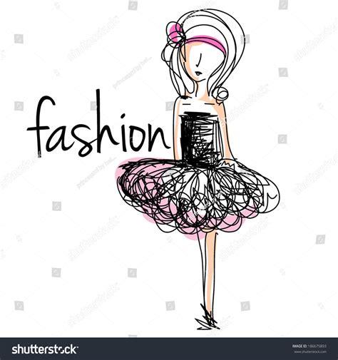 fashion illustration vector file sketch fashion stock vector