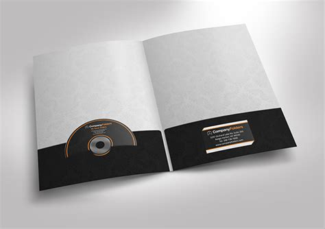 presentation folder template psd free psd presentation folder mockup template on behance